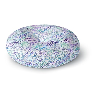 East Urban Home Noonday Design 'Floral Explosion' Floral Round Floor Pillow; 23'' x 23''