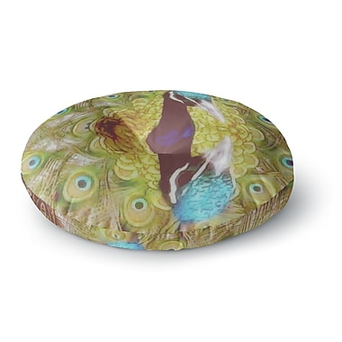 East Urban Home Suzanne Carter 'Reflected' Peacock Round Floor Pillow; 23'' x 23''