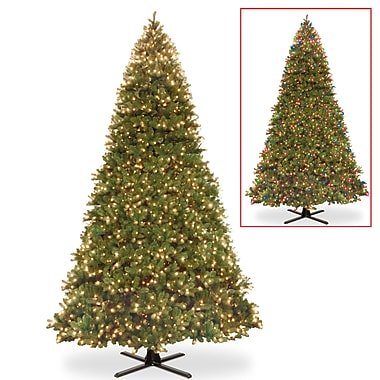 Feel Real Memory 180'' Green Spruce Christmas Tree w/ 5000 Multi-Colored Lights Clear/White w/ Stand
