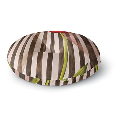 East Urban Home S Seema Z 'Classic rose' Stripes Round Floor Pillow; 26'' x 26''