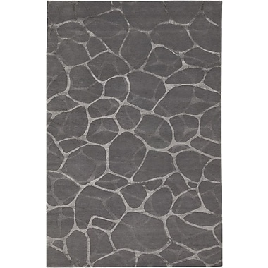 Orren Ellis Amelia Flagstone Hand-Knotted Gray Area Rug