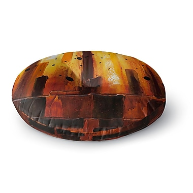 East Urban Home Steven Dix 'Falling Embers' Painting Round Floor Pillow; 26'' x 26''