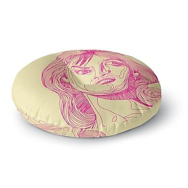 East Urban Home Roberlan 'Bardot' Girl Round Floor Pillow; 23'' x 23''