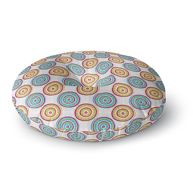 East Urban Home Apple Kaur Designs 'Bombay Dreams' Round Floor Pillow; 26'' x 26''