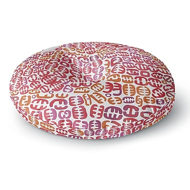 East Urban Home Theresa Giolzetti 'Oliver' Round Floor Pillow; 26'' x 26''