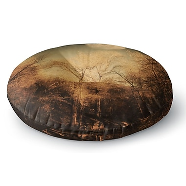 East Urban Home Sylvia Coomes 'Full Moon' Nature Round Floor Pillow; 23'' x 23''