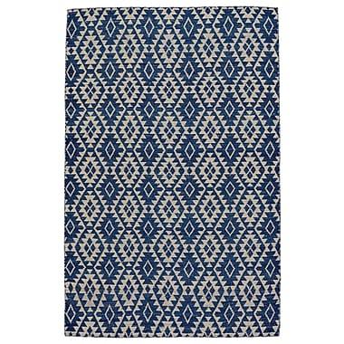 Brayden Studio Hallock Hand-Loomed Blue Area Rug; 9' x 12'
