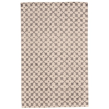 Brayden Studio Halloran Hand-Knotted Ivory/Gray Area Rug; 4' x 6'