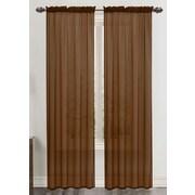 Harriet Bee Daron Solid Sheer Rod Pocket Single Curtain Panel; Chocolate