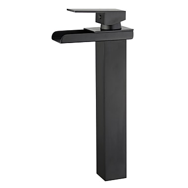 Bellaterra Home Oviedo Single Handle Bathroom Faucet w/ Drain Assembly; New Black