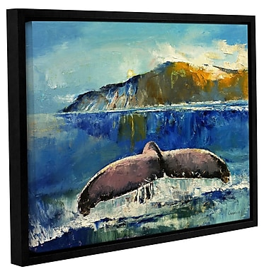 Highland Dunes 'Whale Song' Framed Painting Print; 24'' H x 32'' W x 2'' D