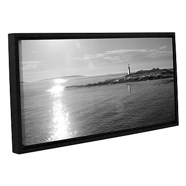 Highland Dunes 'Lighthouse Sound Crop' Framed Photographic Print in Black/White