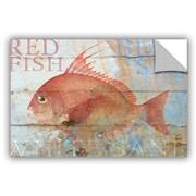 Breakwater Bay Addisyn Fish on Wood Wall Decal; 32'' H x 48'' W x 0.1'' D