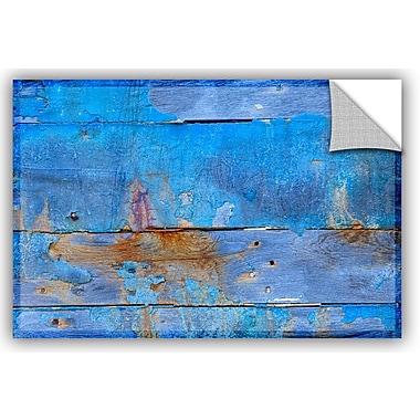 Breakwater Bay Addisyn Blue Paint Wall Decal; 24'' H x 36'' W x 0.1'' D