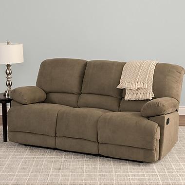 Red Barrel Studio Condron Chenille Reclining Sofa; Brown