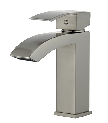 Legion Furniture UPC Single Hole Single Handle Bathroom Faucet w/ Drain Assembly; Brushed Nickel