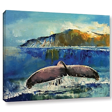 Highland Dunes 'Whale Song' Painting Print on Wrapped Canvas; 8'' H x 10'' W x 2'' D