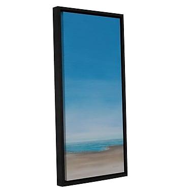 Highland Dunes 'A.M. Beach Walk' Framed Graphic Art on Wrapped Canvas; 36'' H x 18'' W x 2'' D