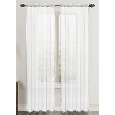 Harriet Bee Daron Solid Sheer Rod Pocket Single Curtain Panel; White