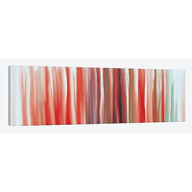East Urban Home 'Unfolding Forecast' Painting Print on Wrapped Canvas; 12'' H x 36'' W x 1.5'' D