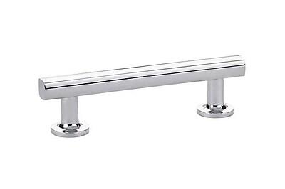 Emtek Urban Modern Freestone 3-1/2'' Center Bar Pull; Polished Chrome