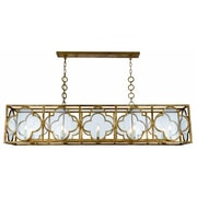 Bungalow Rose Angelo 10-Light LED Kitchen Island Pendant; Golden Iron