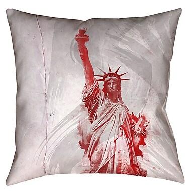 Brayden Studio Houck Watercolor Statue of Liberty Floor Pillow; 36'' x 36''