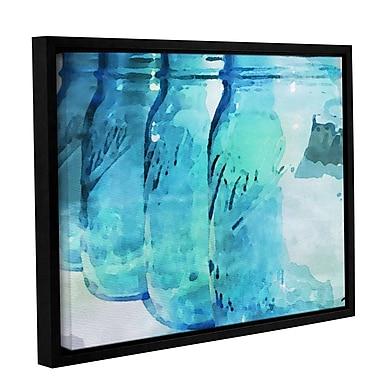 Highland Dunes 'Ball Blue' Framed Print on Canvas; 14'' H x 18'' W x 2'' D
