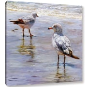 Click here to buy Highland Dunes 'Waders' Graphic Art Print on Canvas; 10 inch H x 10 inch W x 2....