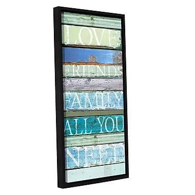 Highland Dunes 'Love Friends' Family Framed Textual Art; 36'' H x 18'' W x 2'' D