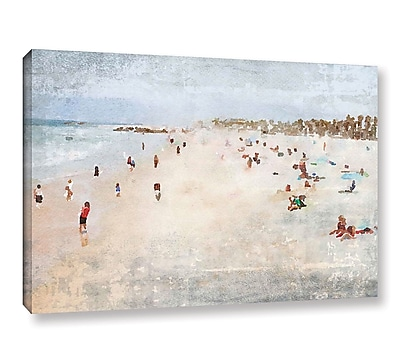 Highland Dunes 'On the Beach 1' Print on Canvas; 16'' H x 24'' W x 2'' D