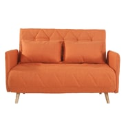 Ivy Bronx Lonan Fabric Fiber Sofa Bed; Orange