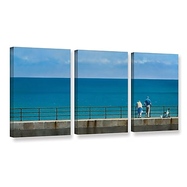 Highland Dunes 'The Fisherman And His Wife' 3 Piece Painting Print on Wrapped Canvas Set