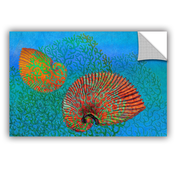 Highland Dunes Ramonita Shells in Seaweed Wall Decal; 8'' H x 12'' W x 0.1'' D