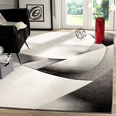 Orren Ellis Anne Abstract Gray/Dark Gray Area Rug; 6'7'' x 9'