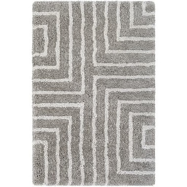 Orren Ellis Annie Geometric Hand-Tufted Taupe/Ivory Area Rug; 5' x 7'6''