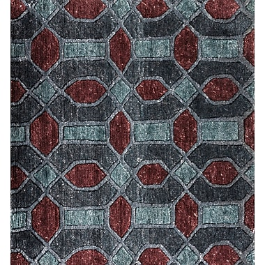 Orren Ellis Arline Hand-Knotted Gray/Brown Area Rug; 6' x 9'