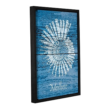 Highland Dunes 'Blue Wood Mollusc' Framed Graphic Art on Wrapped Canvas; 24'' H x 16'' W x 2'' D