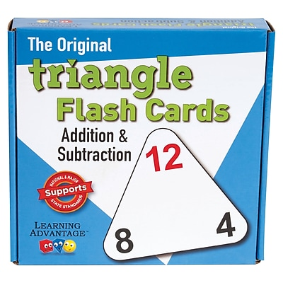 WCA The Original Triangle Flash Cards, Addition/Subtraction