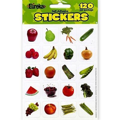 Eureka® Stickers, Fruits & Vegetables, 120/Pack