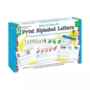 Key Education Write On/Wipe Off Cards, Print Alphabet Letters