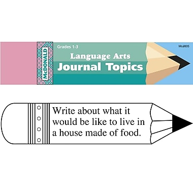 Mcdonald Publishing® Journal Booklet, Language Arts, Grades 1-3