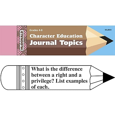 McDonald Journal Booklets, Character Education