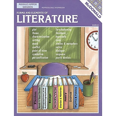 Forms and Elements of Literature Reproducible Book, Grades 6–9