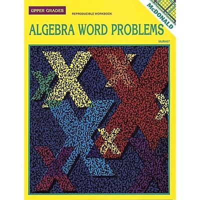 Algebra Word Problems Reproducible Book