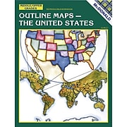 Mcdonald Publishing® The United States Outline Maps Reproducible Book