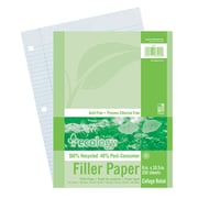 "Ecology®, Recycled Filler Paper, 8""x10.5"", College Ruled, 150 Sheets, (PAC3204)"
