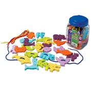 Pacon WonderFoam Lacing Toy Ages 3 to 12, Assorted Colors, 36 Pieces Per Set (PACAC4467)