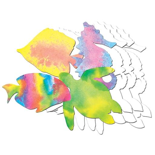 "Roylco Color Diffusing Paper Sealife, 7"" x 10"", 48 Sheets (R-2446)"