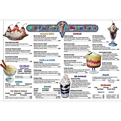 Remedia® Menu Math Old-Fashioned Ice Cream Parlor Book, 6th Extra Menus, Grades 3rd - 6th